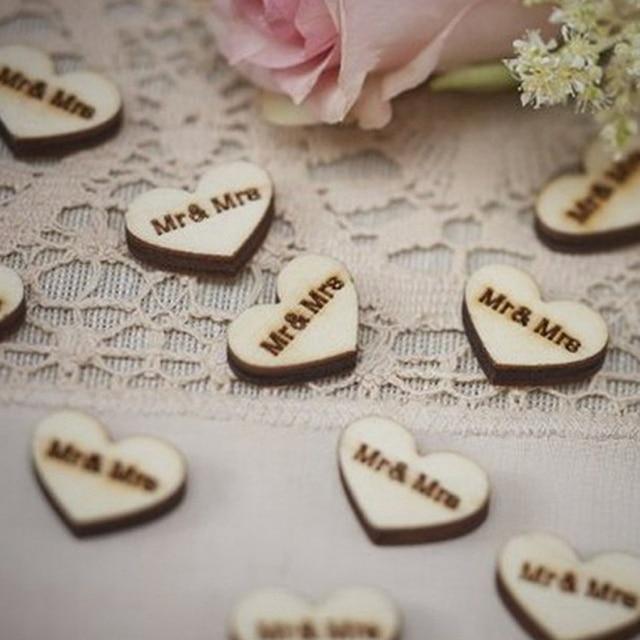 50pcs Wedding Decoration Wooden Wedding Shooting Props Wedding