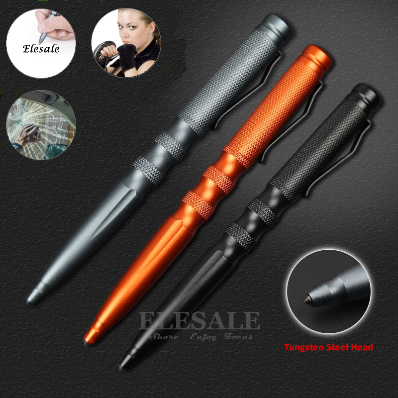 Portable Tactical Pen Aluminum Alloy Self Defense Ball Point Pen Emergency Glass Breaker Camp EDC Tool Gift