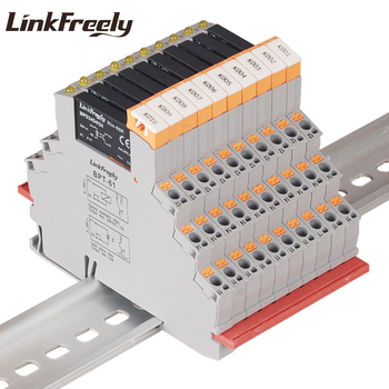 MPD24D4/24BPT 10pcs Plug-in Spring Voltage Relay Switch Module & Board 24V DC 4A DC DC SSR Electronic Solid State Relay Din Rai