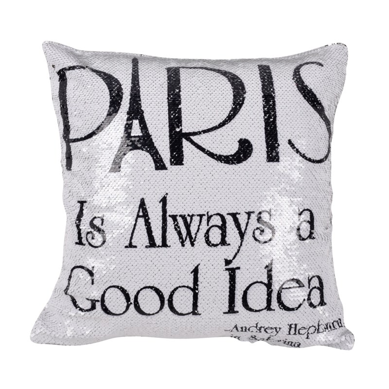 Mermaid Sequin Cushion Cover Magic Letters Throw Pillowcase Color Changing Reversible Pillow Case 40cmx40cm