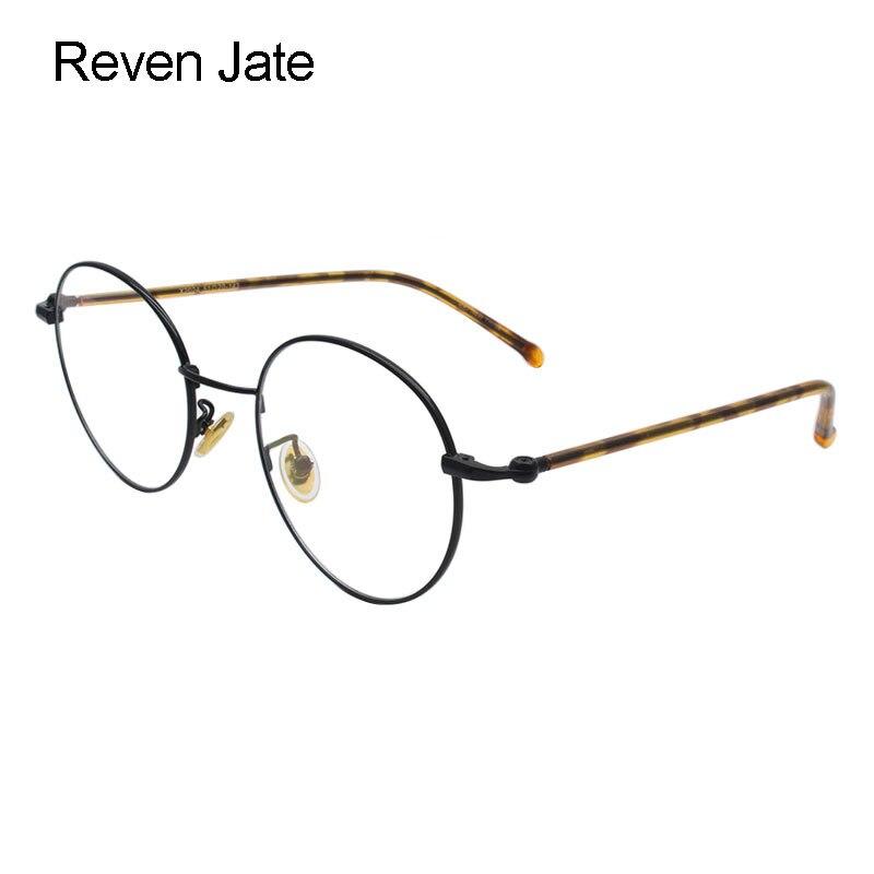Reven Jate 2024 Round Alloy Eyeglasses Frame Optical Women Fashion Glasses Prescription Spectacles Female Eyewear
