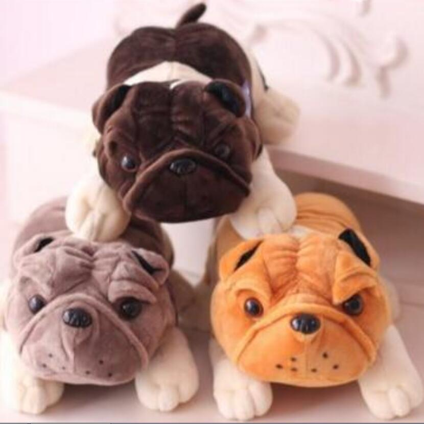 1pc 20cm bulldog shar pei dog Plush font b Toy b font Soft Doll Super Quality