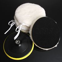 Yetaha 5Pcs 7 Inch M14 Car Polisher Buffer Wool Bonnets Wheel Kit Car Polishing Buffing Pads