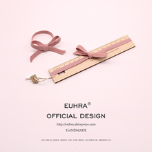 EUHRA Elastic Hair Bands Pink Flat Bow High Elasticity Women Girls Hairband Children Rubber Band kids
