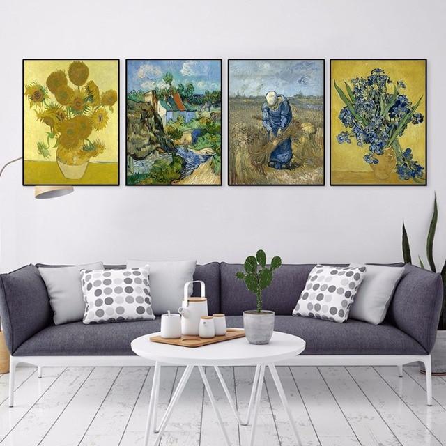 Vincent Van Gogh Moderne Gele Zonnebloem Poster Prints Originele ...