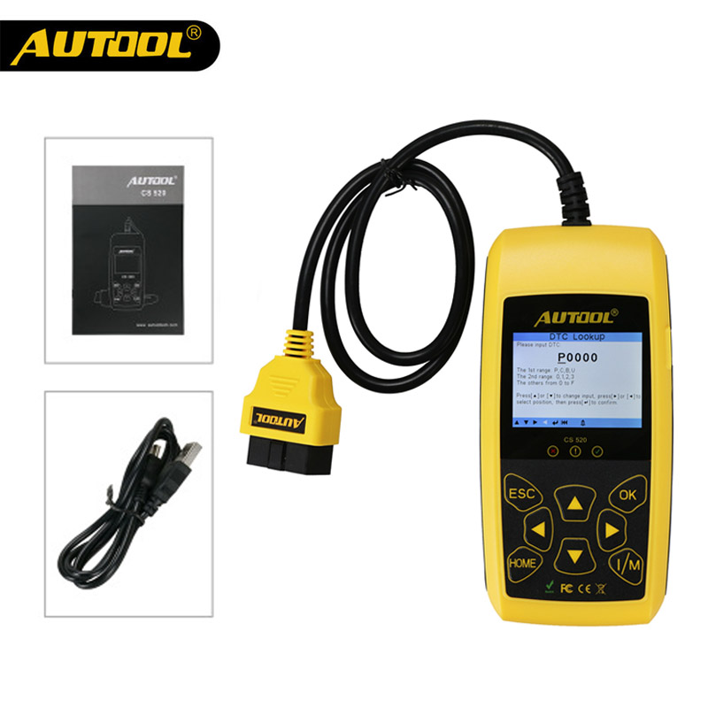 AUTOOL CS520 Auto OBD2 EOBD CAN BUS Code Reader Live Data Automotive Fault Code Scanner Car Diagnostics Scan Tool
