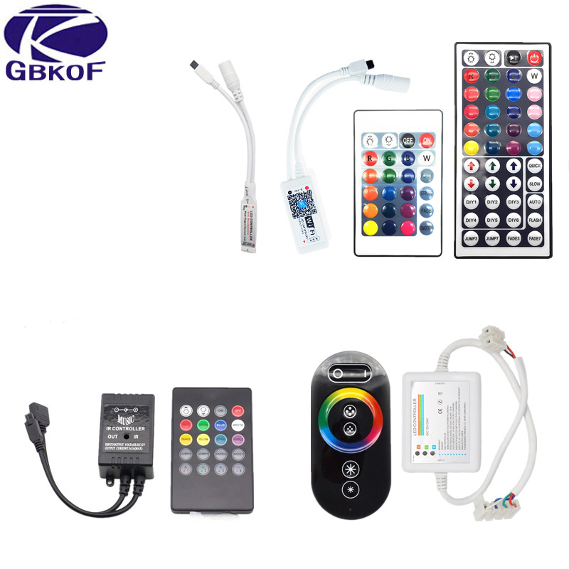 RGB Controller 24 Key Remote 44 Key Remote Music Remote RF Touch Remote Controller For 2835 5050 RGB LED Strip RGB Lamp