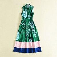 italian brand style women 2018 summer vestidos mujer green long tank dress sleeveless elegant maxi ankle length dress casual xl