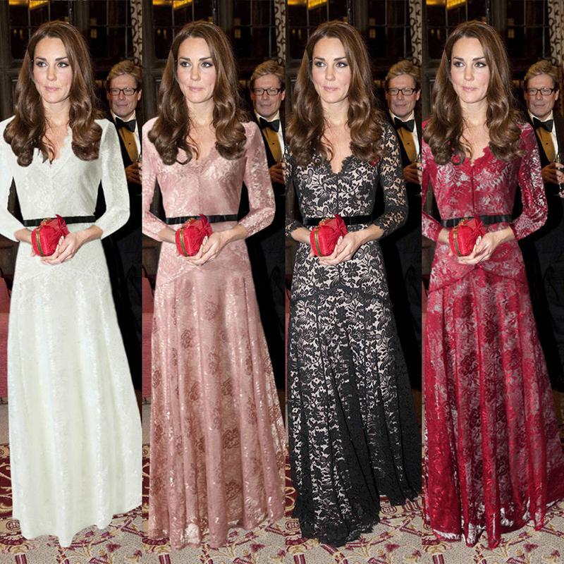 6d15e2a9087 Autumn Women Vintage Dresses Floral Long Dress Boho Bohemian Maxi Dresses  Explosion Models Net Yarn V-neck Lace Dress