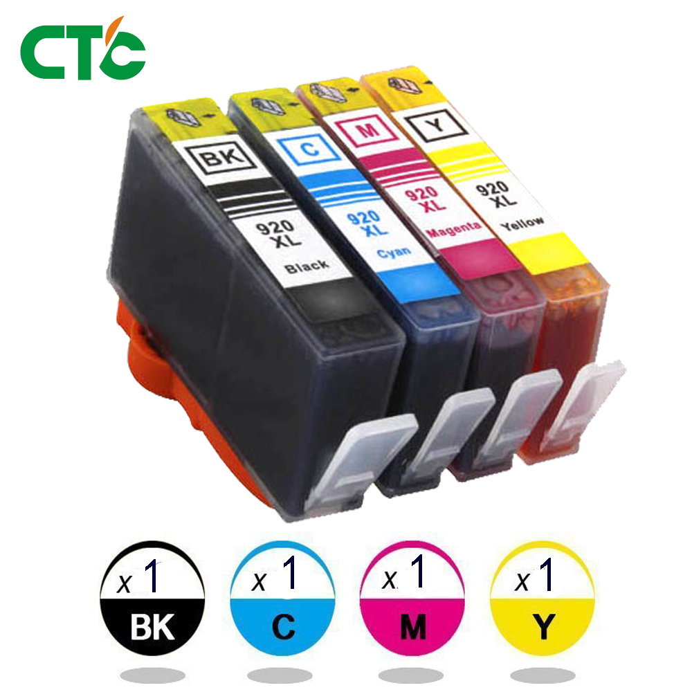 920XL HP920 Printer Ink for Officejet 6000 6500 7000 7500 E910 4PK