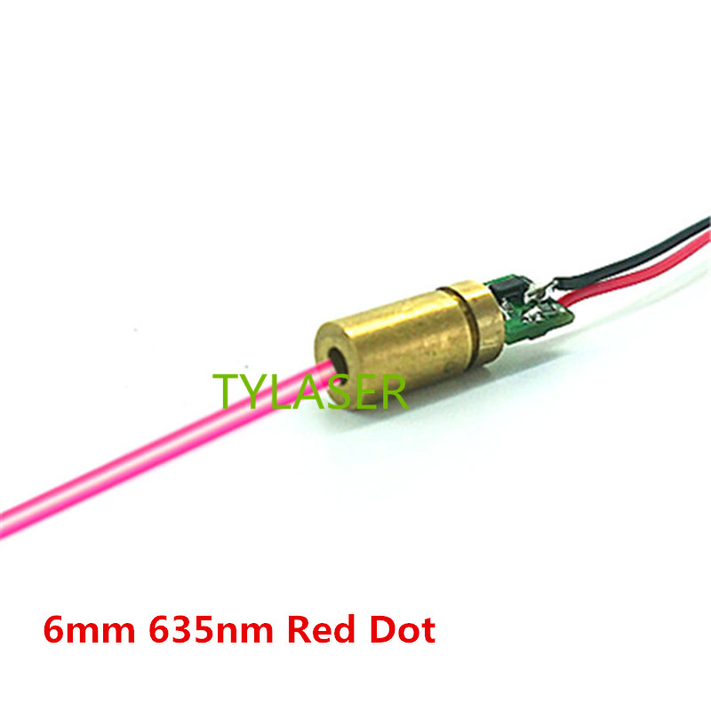 6mm 635nm 1mW 5mW 10mW Red Dot Laser Module Industrial Grade APC Driver