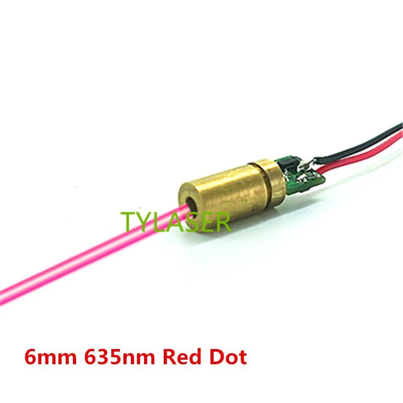 6mm 635nm 1mW 5mW 10mW Red Dot Laser Module Industrial Grade APC Driver