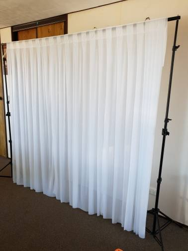 2x2m White Ice Silk Cloth D Panels