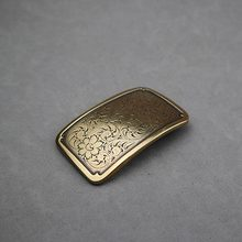 DIY Leathercraft Hardware Sheridan Karaqusa Pattern Plate Buckle 601912-H38 Belt Buckle OEB Finish