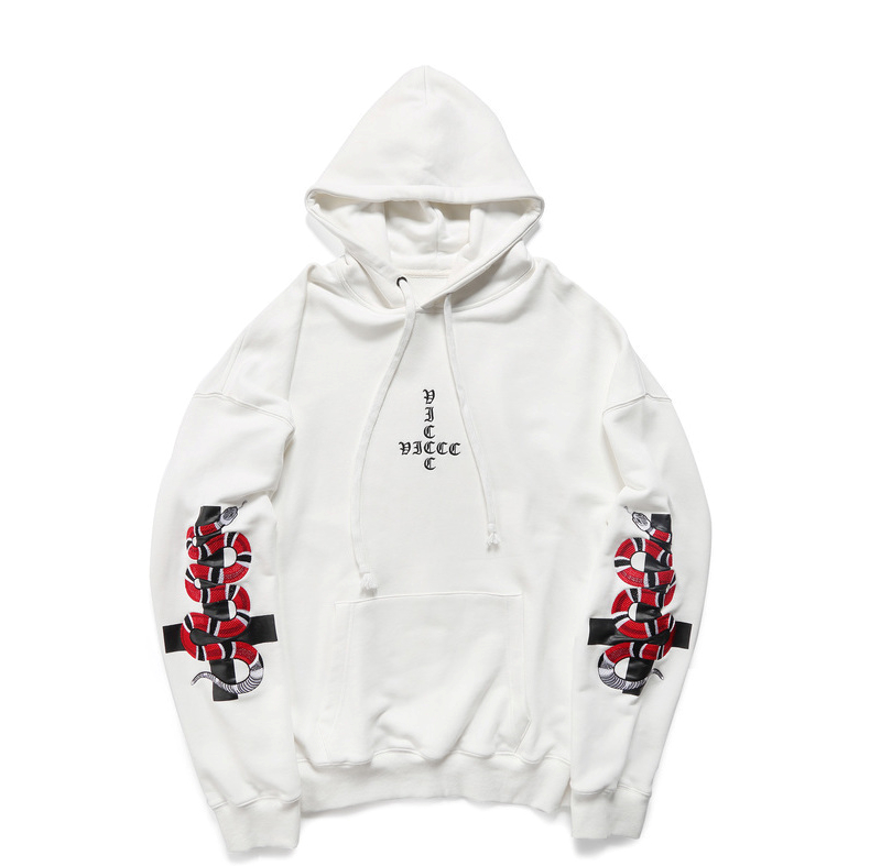 HTB1nZD XcfrK1Rjy0Fmq6xhEXXa5 - HEYGUYS2018 New Spring Hoodie Mens Hip pop Sweatshirts Harajuku hip hop Cross double snake embroidey Long Sleeve Hoody Clothing
