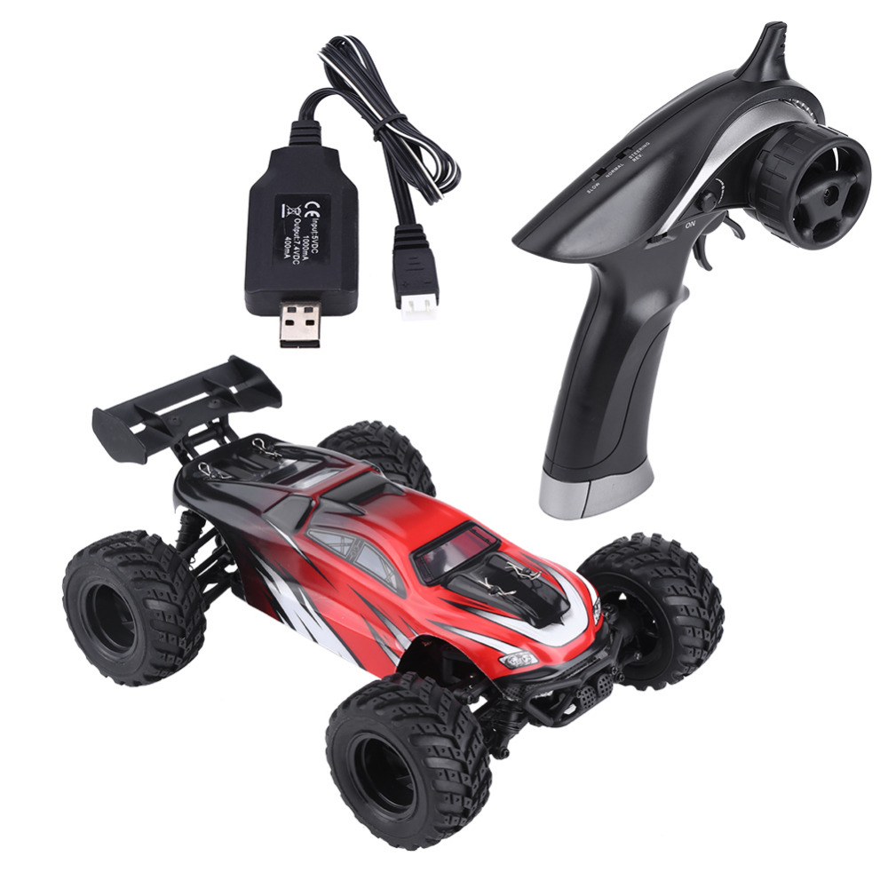 RC Cross Country Car, 1:18 RC Model Toy 2.4GHz Remote Control 4 Wheels Brushed Cross Country Cars Vehicle Model Cars Gifts