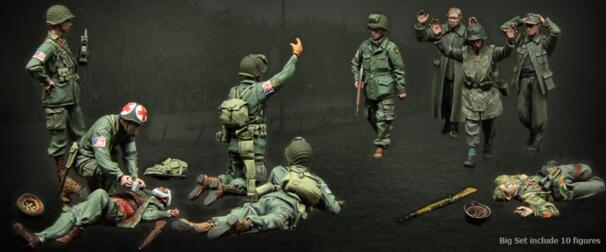 1/35 Resin Figure Defeated Soldier 10pcs/set Model Kits