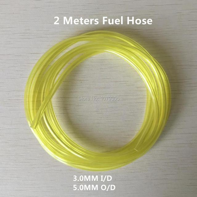 2M 나일론 문자열 트리머 파이프 3*5MM 가솔린 연료 튜브 Disel 연료 오일 라인 소프트 호스 가스 파이프 정원 잔디 깎는 기계 도구