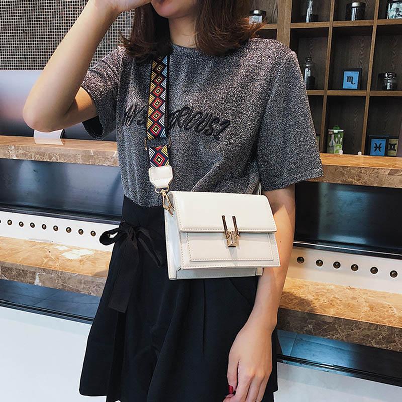 New Women Fashion Width Shoulder Bags INS Popular Female Exquisite Solid Handbag Mini Flap Lady Travel Chains Crossbody SS3474 (20)
