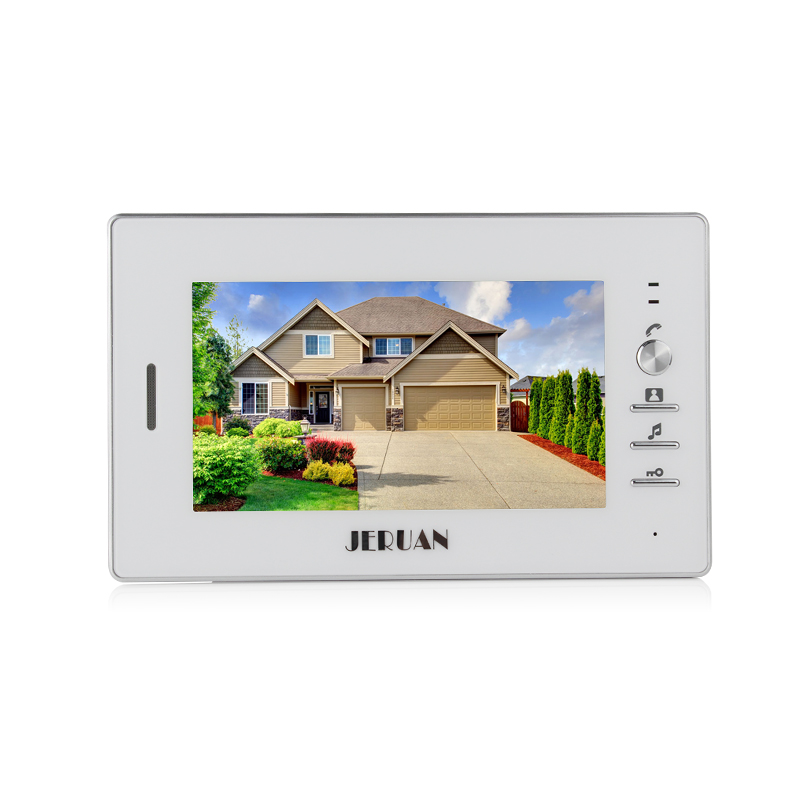 JERUAN 7`` LCD video door phone 2 white Monitor 1 HD Camera Apartment 1V2 Doorbell+RFID Access Control+FREE SHIPPING