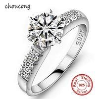 Big Promocja!!! hurtownie 100% Litego Srebra Próby 925 Pierścień Fine Jewelry Wkładka 1.5 Carat CZ Diamant Pierścionki Zaręczynowe Dla Kobiet