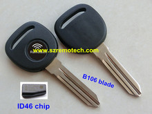Transponder Key for Chevrolet chip key with ID40 LCK46 transponder key chip (B106 blade)