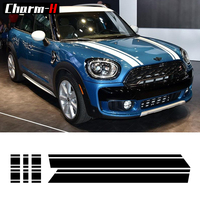Bonnet Stripes Hood Trunk Engine Cover Rear Vinyl Decal Stickers For Mini Cooper S Countryman F60