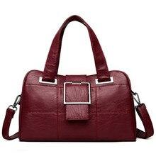 3755b59cef35 Boston Hand Bag Women Tote Leather Sheepskin Bags Handbags Women Famous  Brands Female Crossbody Bags For