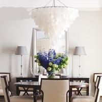Скандинавские креативные подвесные лампы в виде раковины для гостиной, Светильники для ресторанов, спальни, исследование модели помещений,