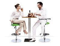 European Coffee Chairs Stainless Steel Rotating Bar Stool Retail Wholesale Free Shipping