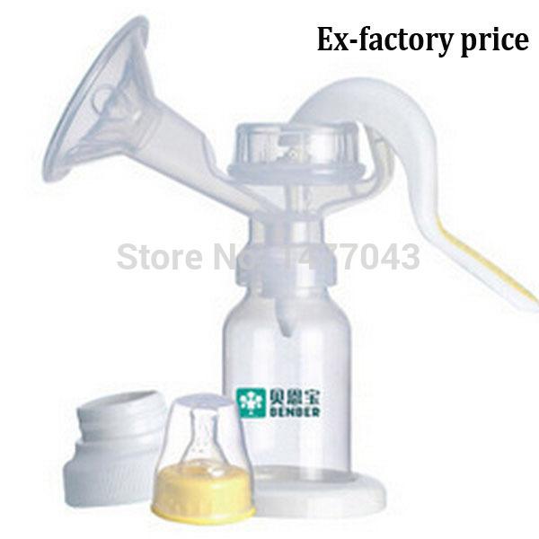 Nuevo Producto Del Bebé manual tipo de extractores de leche de alimentación, botella de Leche/pezón con la función de succión de extractor de leche Extractor de leche Manual de