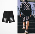 2017 Men's Off White Shorts Hip Hop Streetwear Summer Beach Jogger Shorts Homme Man Casual Boardshorts Brand-Clothing