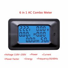 20A/100A AC LCD Digital Panel Power Watt Meter Monitor Voltage KWh Voltmeter Ammeter Tester Tools(China)