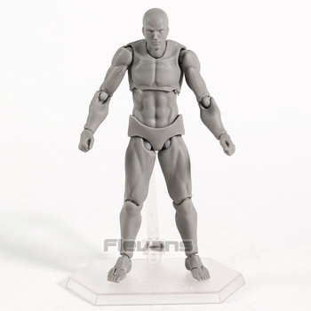 Figma Archetype Next He / She Flesh Gray Color Ver. Deluxe Edition PVC Action Figure Collectible Model Toy 2