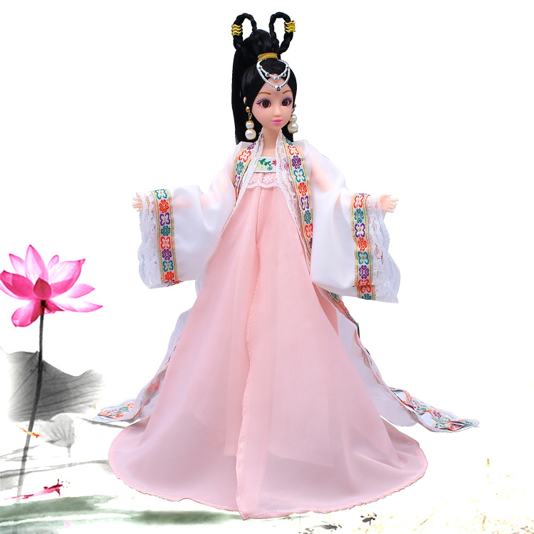 Beautiful Fairy Chinese Ancient Costume Dress For 30cm Dolls Chinese Classical Dress Classic Doll Toys Christmas Birthday Gift