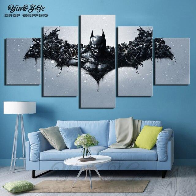 Trang Trí Nội Thất Canvas Vẽ Tranh In HD 5 cái Tường Nghệ Thuật Batman Forrest Gump Movie Hình Ảnh Mô-đun Phòng Khách Khung Áp Phích