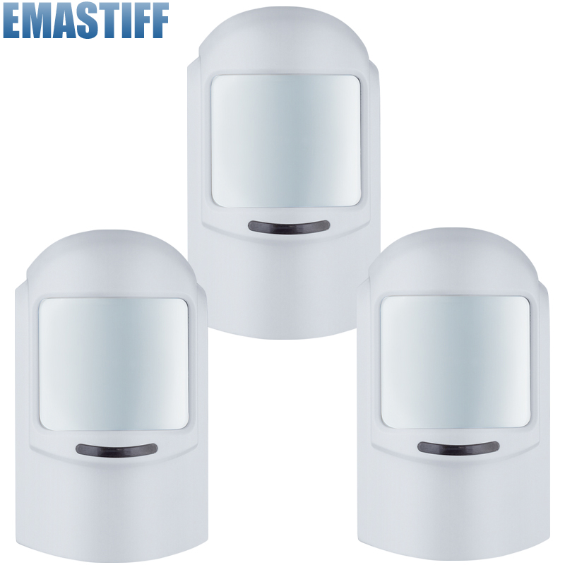 3pcs/lot Wireless 12KG Pet immune PIR Sensor/Motion Detector Home Security Alarm System Accessory Cat Dog Immune Sensor dog fence wireless containment system pet wire free fencing kd661