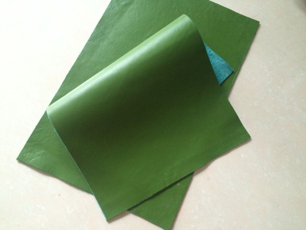 Superb Genuine Green Color Horsehide Leather,(China (Mainland))