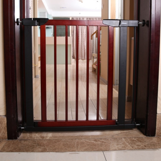 New Arrival Easy To Install Baby Safety Gate Wood Toddler Protector Pet  Isolation Gate Stairs Fence