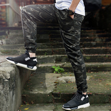 Hip Hop Mens Harem Jogger Pants Camouflage Pencil Pants Mens Military Cargo Pants Z1226