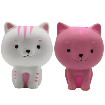 Kids Cute Simulation Cartoon Cat PU Squishy Slow Rising Squeeze Decompression Kawaii Squish Toy Stress Reliever for baby gift фото