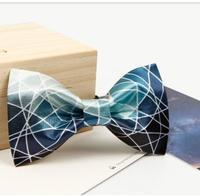 2017 Summer Bow Ties Original High Quality Colorful Blue Line Groom S Best Man Wedding Presents
