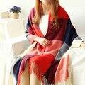 RASMEUP Fashion Women Scarf Winter Warm Cachecol Women Wool Light Fringe Scarves Long Shawl Tassel Cashmere Shawl