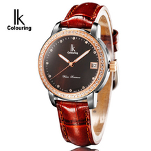 Ik смотреть женщин inveted водонепроницаемый женские часы тенденция моды автоматические механические часы женские