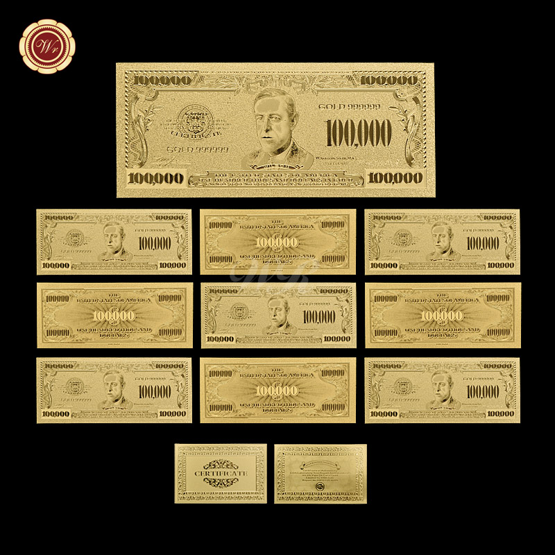 Gold banknote american bill one hundred thousand dollar for 200 thousand dollar homes
