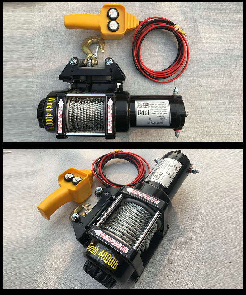 12000lbs12V/24V portable large pull copper core motor winch power recovery winch cable traction winch kit  winch trailer truck