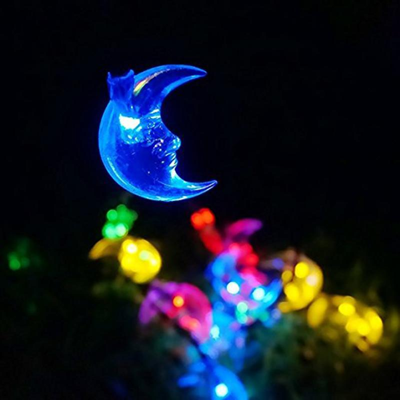 30 LED Moon Solar String Lights Outdoor Waterproof Fairy Light String For Christmas Home Wedding Party Bedroom Decoration