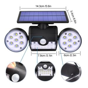 Image 4 - Новейший Настенный Солнечный светильник с двойной головкой, уличный водонепроницаемый садовый Настенный Солнечный светильник с регулируемым углом поворота 30 светодиодов, 500 лм