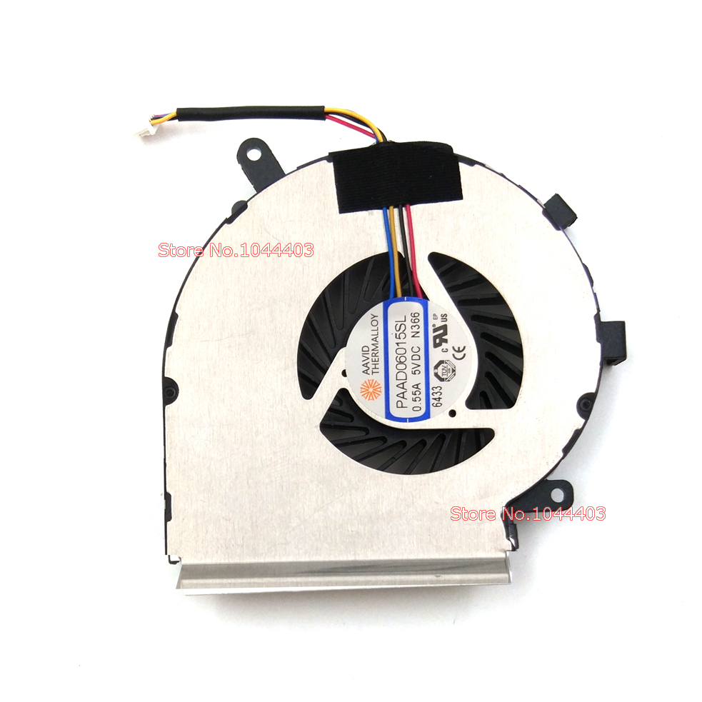 New Laptop CPU Cooling Fan For MSI GE62VR GE72VR GP62MVR GP62VR GP72VR 6RF 7RF Apache Pro AAVID PAAD06015SL N366 4Pins wood