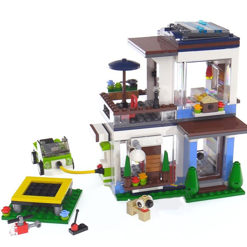 Lepin 24048 Toys Creative Series The LegoINGlys 31068 Modern Home Set Building Blocks Bricks Funny Toys Kids Toys Birthday Gifts lepin 16051 toys 1078pcs ship in a bottle legoingly 21313 sets building nano blocks bricks funny toys for kids birthday gifts